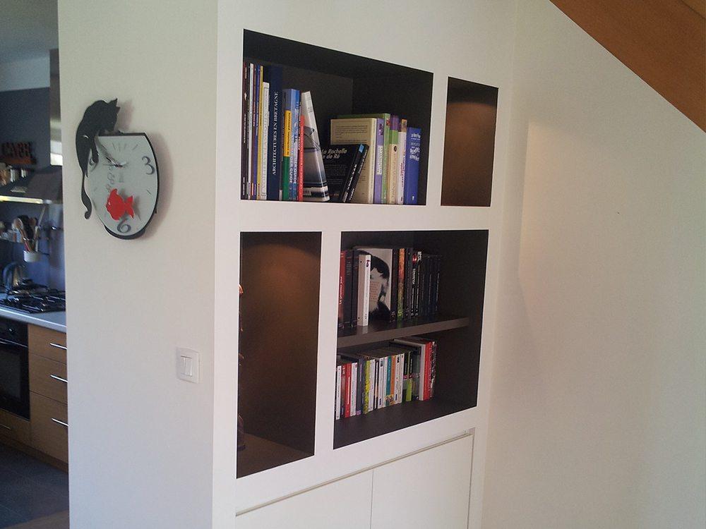 biblioth ques sur mesure agencement vannes. Black Bedroom Furniture Sets. Home Design Ideas