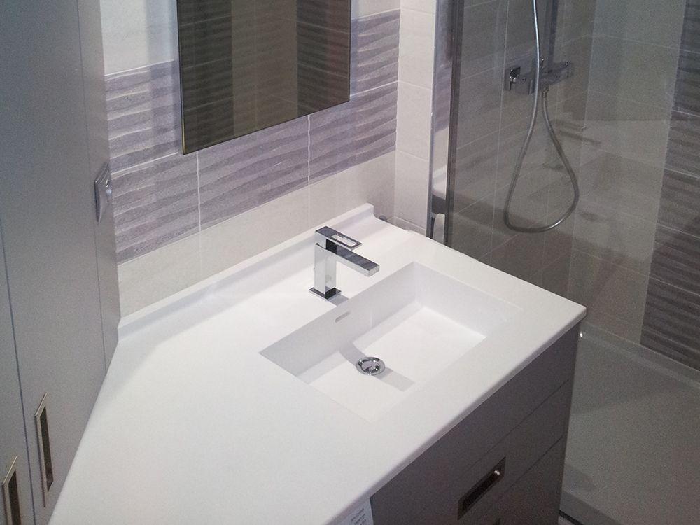 Creation meuble salle de bain sur mesure vannes Creation meuble salle de bain