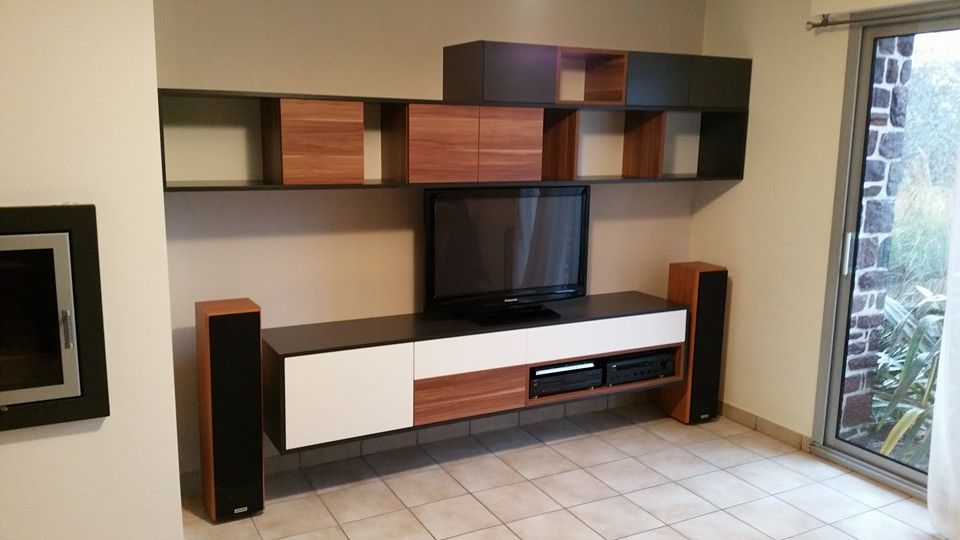 cr ation meuble tv hifi sur mesure agencement vannes. Black Bedroom Furniture Sets. Home Design Ideas